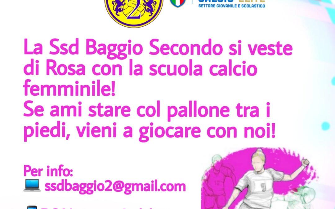 Aperte le iscrizioni alla Scuola Calcio Femminile!