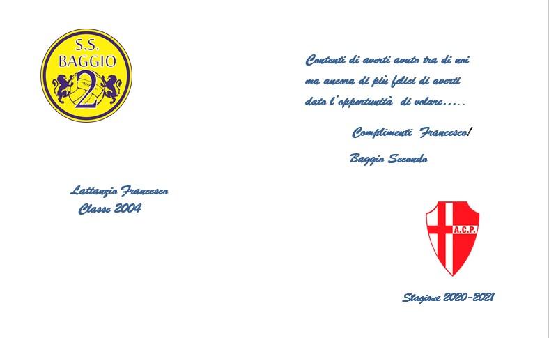 Congratulazioni a Francesco Lattenzio!