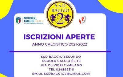 Anno calcistico 2021-2022 Iscrizioni Aperte